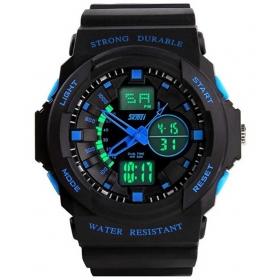 Skmei Blue Round Dial Analog-digital Casual Watch