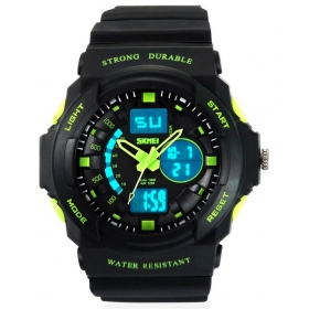 Skmei Green Round Dial Analog-digital Casual Watch