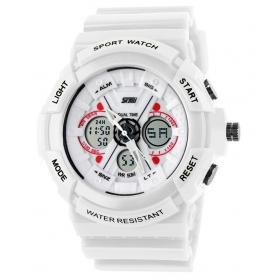 Skmei White Round Dial Analog-digital Casual Watch