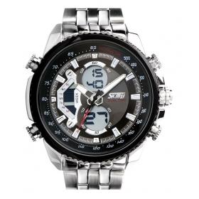 Skmei Black Trendy Casual Stainless Steel Quartz Watch