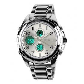 Skmei Silver Analog-digital Formal Watch