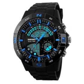 Skmei Blue Round Dial Analog-digital Casual Watch