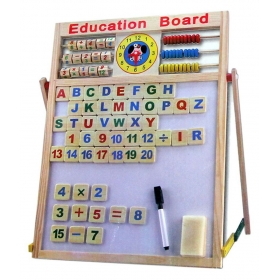 2 In 1 Wooden Magnetic Slate Educational Board With Alphabets & Numbers (medium Size) Toys For Kids