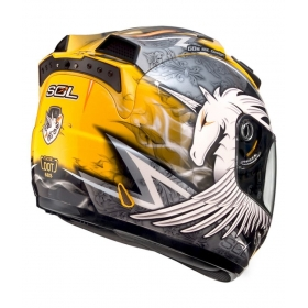 Sol Sl-68s Unicorn Ii Yellow Silver - Full Face Helmet Yellow Xl