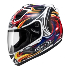 Sol Sl-68s Wizard-whi/red - Full Face Helmet White Xl