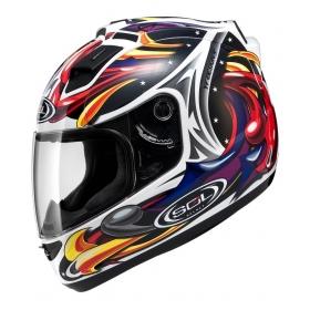 Sol Sl-68s Wizard-whi/red - Full Face Helmet White Xl