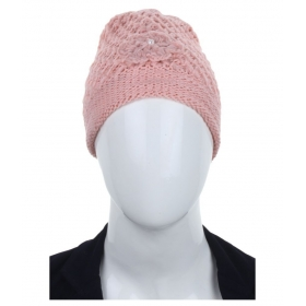 Solly Peach Woolen Cap For Women