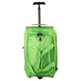 Sonada Green Polyester Trolley Duffle Bag
