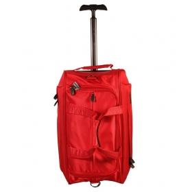 Sonada Red Polyester Trolley Duffle Bag