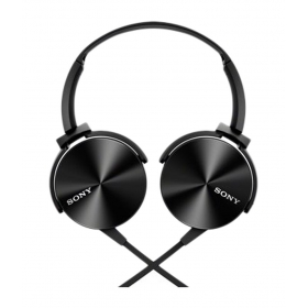 Sony Mdr-xb450ap On-ear Extra Bass(xb) Headphones With Mic (black) With Mic