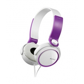 Sony Mdr-xb250/vqin Over Ear Headphones (white And Purple)