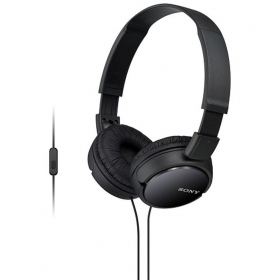 Sony Mdr-zx110ap Zx Series Extra Bass Smartphone Headset With Mic - Black With Mic