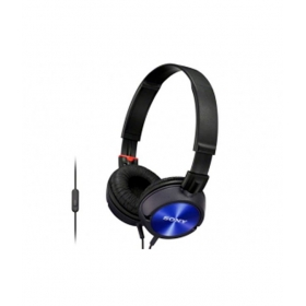 Sony Mdr-zx300ap Over Over Ear Headphones With Mic (blue)