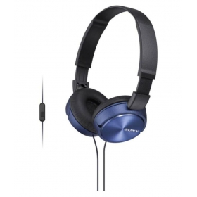 Sony Mdr-zx310 Over Ear Headset With Mic Blue