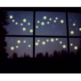 Y0033 38 Stars Radium/glow In The Dark  Wall Sticker  Jaamso Royals