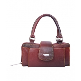 Leather Women Hand Bag - Maroon