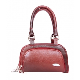 Maroon Leather Women Hand Bag