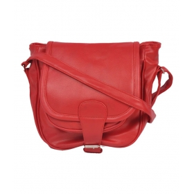 Red P.u. Sling Bag