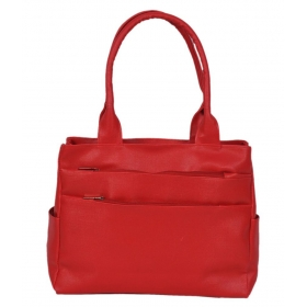 Speed Dot Six Pocket Women Red Shoulder Bag