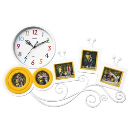 Wall Clock With Photoframe Sq-1666(white)