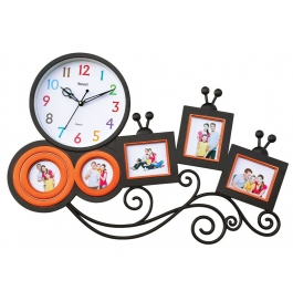 Wall Clock With Photoframe Sq-1666(orange)