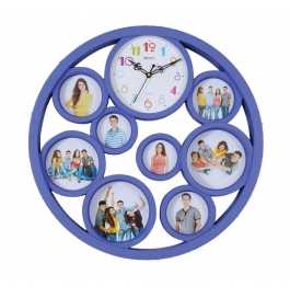 Wall Clock With Photoframe Sq-1820(violet)