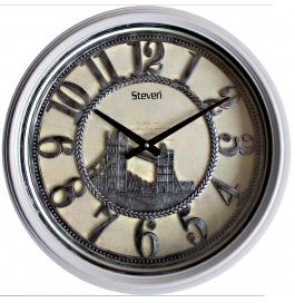 Vintage Wall Clock Sq-2001(silver)