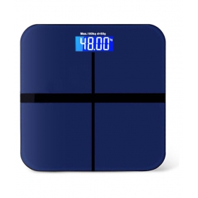 Tempered Glasstop Digital Bathroom Scale- Blue Glasstop-180kg-bs Blue