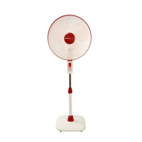 Orient 400mm Stand-32 White With Red Pedestal Fan