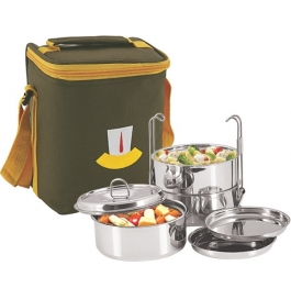 Nanonine Insulated 3 Pc Clip Tiffin Box