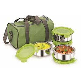 Nano9 Insulated 4pc Lunch Pack Fruit & Salad