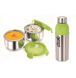 Nano9 Insulated 2pc Lunch Pack Fruit & Salad With Energy Cool Bottle
