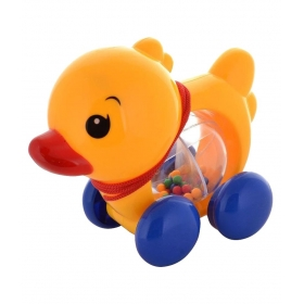 Multicolour Plastic Duck Pulling Baby Toy