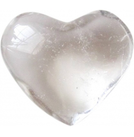 Crystal Small Piece Of Heart Shape Showpiece - 1 Cm  (stoneware, White)