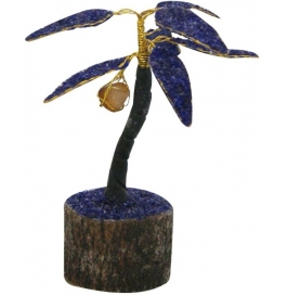 Purple Coconut Gem Tree Showpiece - 15 Cm  (stoneware, Purple)