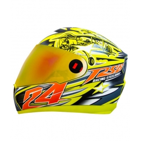 Steelbird Air Hovering Men's Bargy Design - Full Face Helmet Yellow M