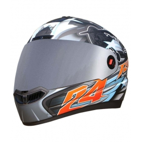 Steelbird Air Hovering Men's Bargy Design - Full Face Helmet Grey M