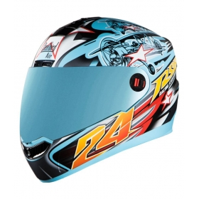 Steelbird Air Hovering Men's Bargy Design - Full Face Helmet Blue M