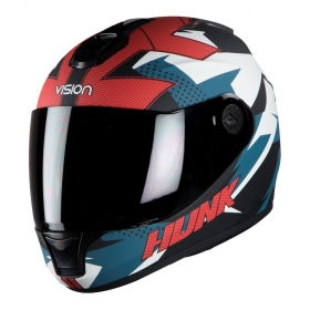Steelbird Vision Hunk Anti Bacterial Men's - Full Face Helmet Black M