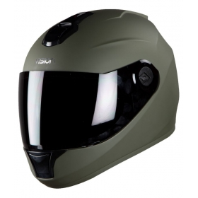 Steelbird Vision Matt Anti Bacterial Men's - Full Face Helmet Green L