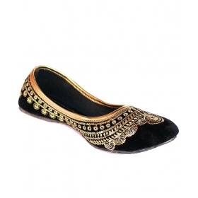 Step India Black Others Ethnic Footwear
