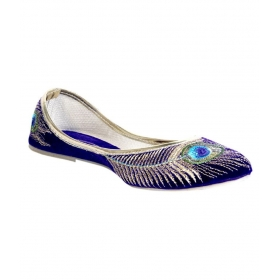 India Blue Ethnic Ballerinas