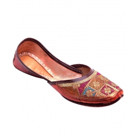 Multi Color Flat Ethnic Footwear