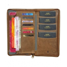 Style 98 Leather Tan Formal Passport Wallet