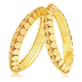 Gold Plated Alloy Bangle Set