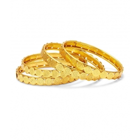 Golden Bangle Set Of 4