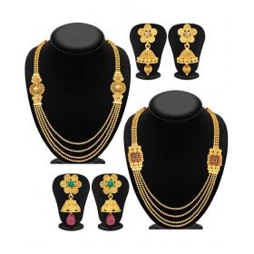 Golden Necklace Set Combo