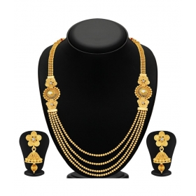 Flower Design Golden Necklace Set