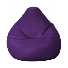 Leather Purple Bean Bag Cover Without Filler