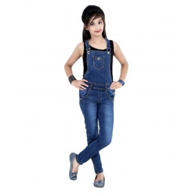 Casual Dark Blue Dungaree
